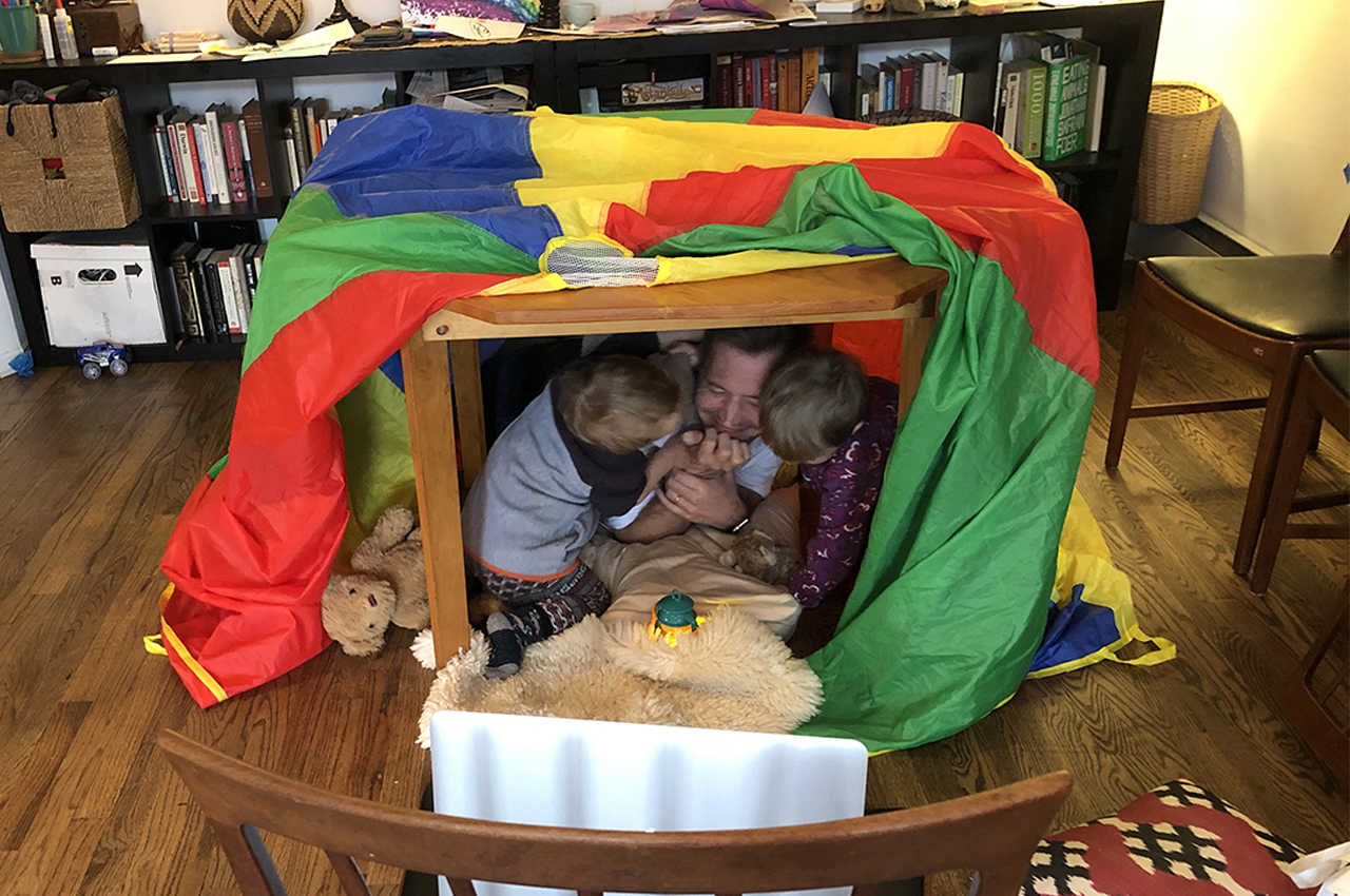 Homemade pretend bear den