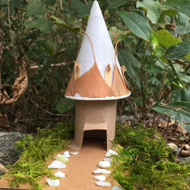 fairy house made of natural materials