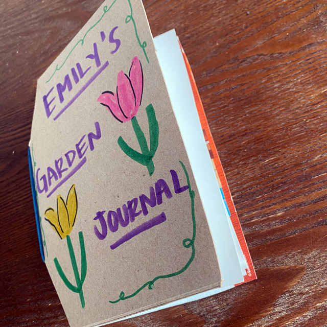 completed garden journal