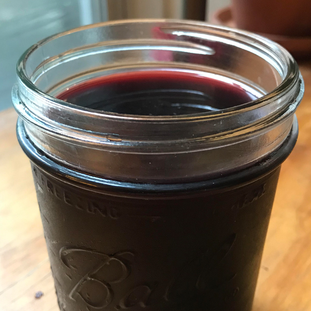 Finished sorrel in a glass.