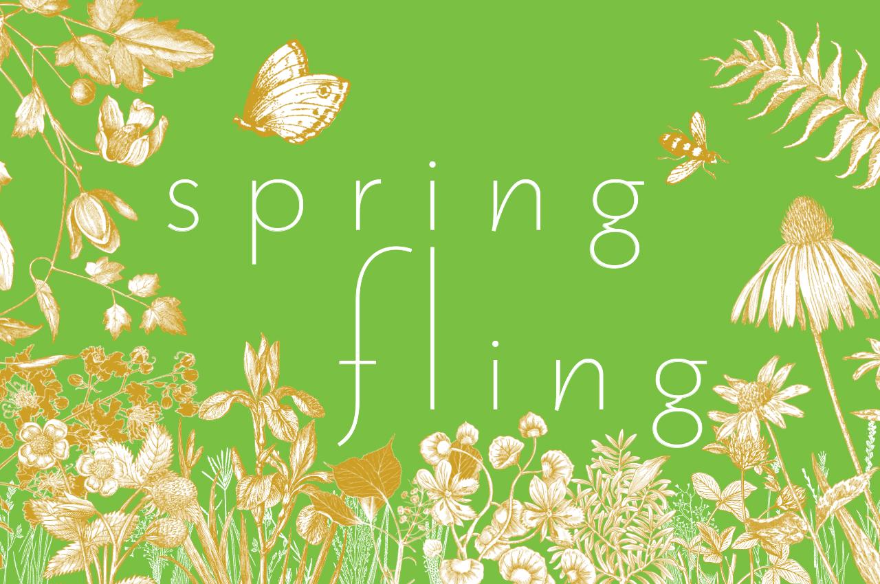 Spring fling graphic