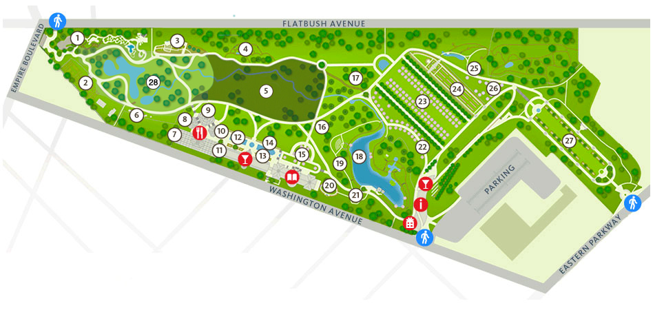 Garden Map Brooklyn Botanic Garden