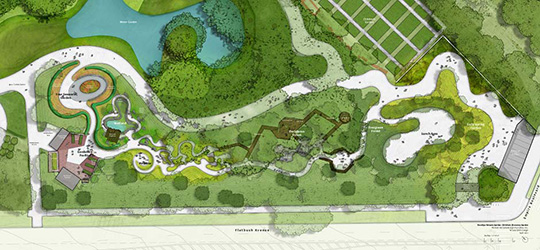 Map of new Discovery Garden