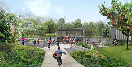 Rendering of BBG's new Discovery Garden