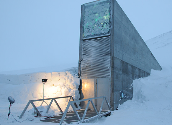 The Svalbard Global Seed Vault entrance.