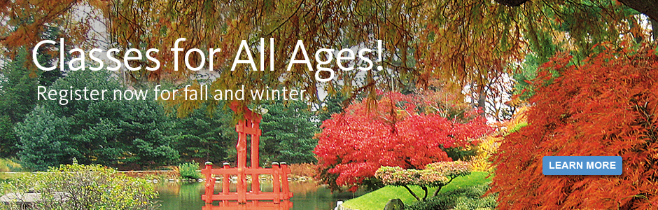 Classes for All Ages. Register Now for Fall and Winter.