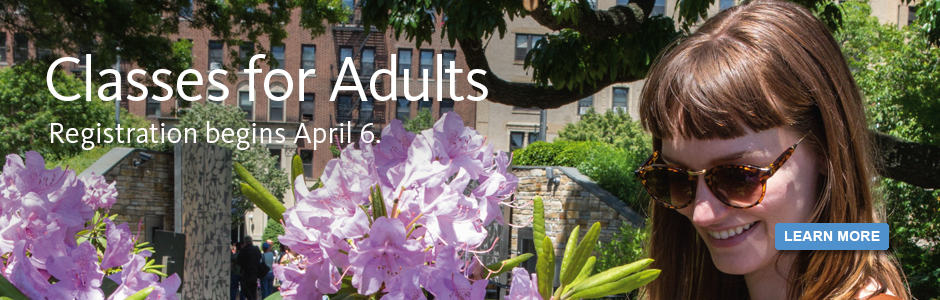 Register for Adult Classes on April 6, 2015